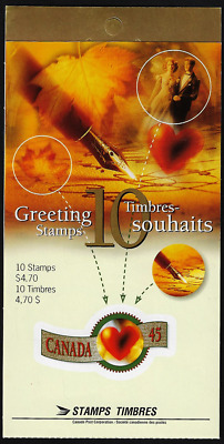 Canada - Booklet Pane of 10 in Cover - Greetings Booklet #1569iii (BK200) - MNH