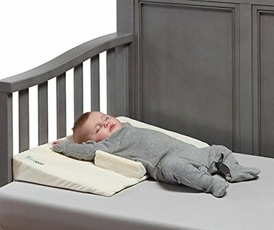 Hiccapop Baby Crib Wedge With Anti Roll Pillow Bumpers | Incline Infant Sleep
