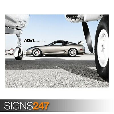 Photo Picture Poster Print Art A0 to A4 CAR POSTER TUNED TOYOTA SUPRA AB569