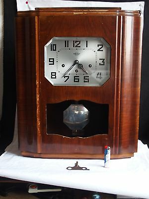 Gros Carillon Irod Westminster 8 Tiges Horloge Pendule Ancien