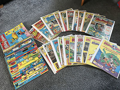 Disney Mickey Mouse UK Comics from 1978 - 1981 45 Issues