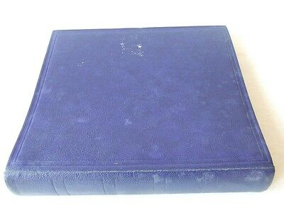 Fg Warwick Blue 2-Peg Stamp Album & Mint Quadrille Leaves, Very Good Condition
