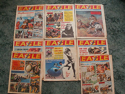 vintage EAGLES comics x8 eagle cutaway drawings 1968  -