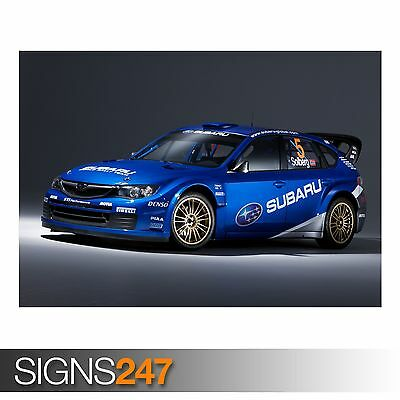 "FORD WRC RALLYE CAR A4 POSTER GLOSS PRINT LAMINATED 11.7/"" x 7.3/"""