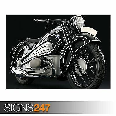 1937 BMW R7 CLASSIC MOTORCYCLE (AC397) BIKE POSTER - Poster Print Art A1 A2 A3
