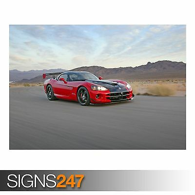 Photo Picture Poster Print Art A0 to A4 DODGE VIPER SRT CAR POSTER AA308