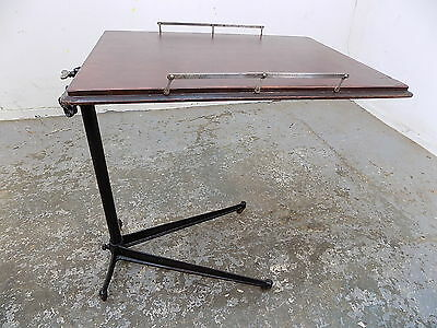 vintage,1930's,adjustable,bed table,lecturn,stand,side table,end,table,music
