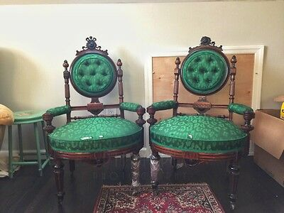 Pair Of Antique Victorian Kilian Brothers Chairs, Circa 1870 - Unique Neo-Grec