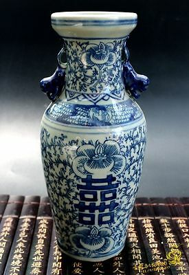 Collection old Chinese Blue&white porcelain Handmade Antique ornaments Jar vase