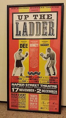 Aboriginal Indigenous Theatre Poster (Framed) - Up The Ladder / Boxing