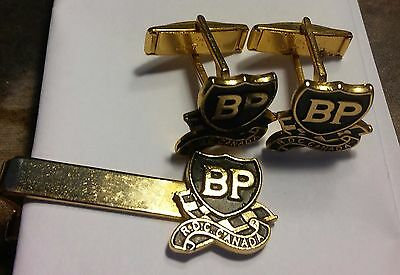 VINTAGE <<BP>>Canada SET OF TIE CLIP AND CUFF LINKS ((235))