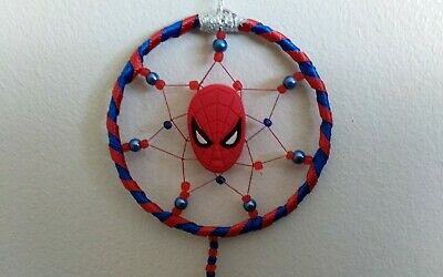 UK 1ST CLASS Spiderman mask MINI Dreamcatcher Gift Boys Girls Dream Catcher GIFT