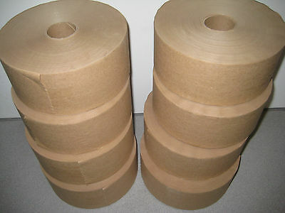 """New - Non Re-inforced Paper Gum Tape 3"""" Wide - 300 ft Roll- 8 roll lot"""