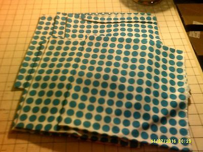 40x22 Toddler Daycare  cot sheets teal dot Print (6 sheets)
