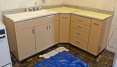 1950's Antique Vintage Metal Kitchen Cabinets - Youngstown ?