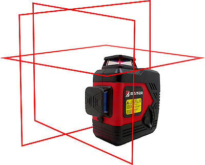 Beiter Tech. BART-3D Red Laser Level, Tri-Plane Red Line Laser Level