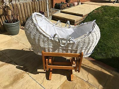 Moses Basket and Rocker / Stand - from Mothercare
