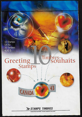 Canada Stamps — Booklet Pane of 10 — Greetings Booklet #1508a (BK166) — MNH