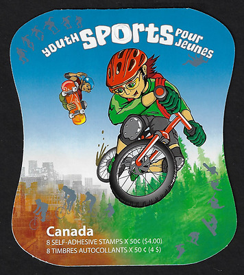 Canada Stamps - Booklet Pane of 8 - Youth Sports #2121 (BK312) - MNH