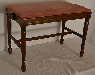 Vintage Antique  COLONIAL BENCH STOOL Ottoman Foot rest SUPER CLEAN! Ships FAST
