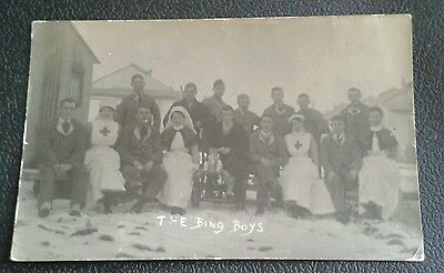 WW1 Photo Postcard Nurse's & Wounded