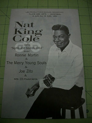 "NAT KING COLE Program ""Sights & Sounds 1964"" Montreal"