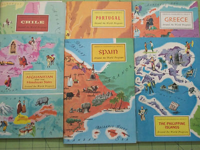 LOT of 6 AMERICAN GEOGRAPHICAL SOCIETY Around the World