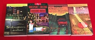 LOT of 4 SHAKESPEARE MYSTERIES by CHARLAINE HARRIS, Shakespeare's Landlord