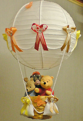 WINNIE THE POOH AND FRIENDS in hot Air Balloon Lamp-light Shade for Baby Nursery