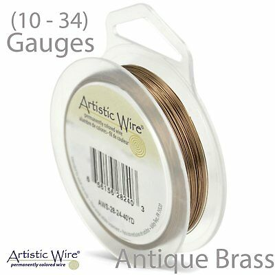 ANTIQUE BRASS Artistic Wire TARNISH Resistant Craft Wire (Large Size)