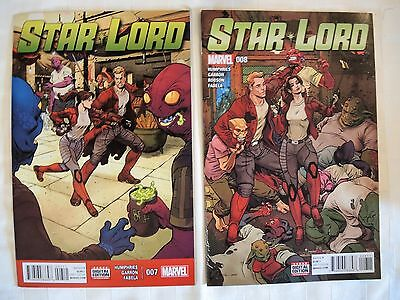 Star Lord #7,8 & 1,2,3,4,5,6 NM Marvel 2016/17 Guardians of the Galaxy