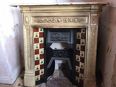Antique Cast Iron Fireplace with original tiles