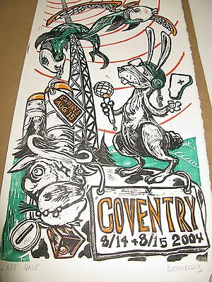 Phish Coventry Aug 14-15 2004 Poster Pristine Brand New, Ready to be framed !