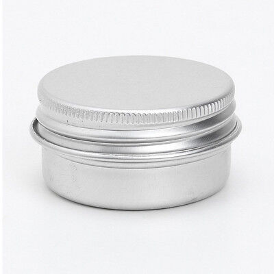 A263 50 x Empty Cosmetics Pot Lip Balm Aluminum Jar Container Screw Cap 15ml