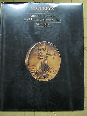 Sotheby's ANCIENT, FOREIGN, U.S. COINS New York auction catalog December 1991