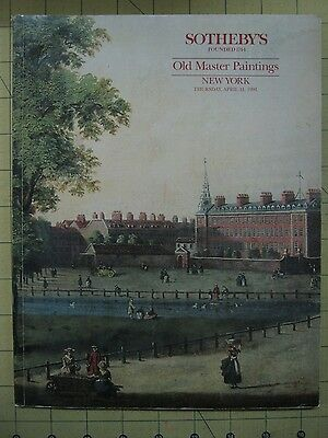 Sotheby's OLD MASTER PAINTINGS New York auction catalog April 1991