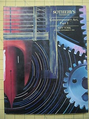 Sotheby's CONTEMPORARY ART, PART 1 New York auction catalog November 1991