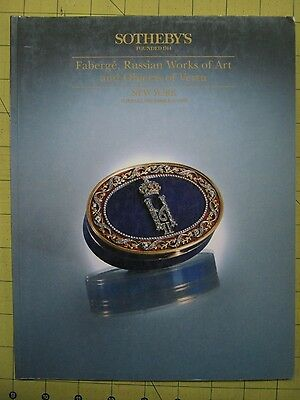 Sotheby's FABERGE, RUSSIAN WORKS, OBJECTS OF VERTU Dec 1992 NYC auction catalog