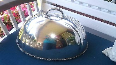 Antique LLB DEC 1900 Silver Plate Food Cover, Dome Lid, Meat Serving