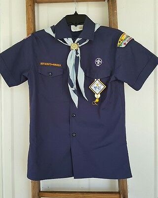 Boy Scouts of America Shirt/Scarf/Slide Youth Large Navy Blue
