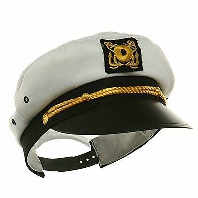 Child Yacht Captain Hat Ship Navy Officer Sea Skipper Cap Costume Accessory Adju