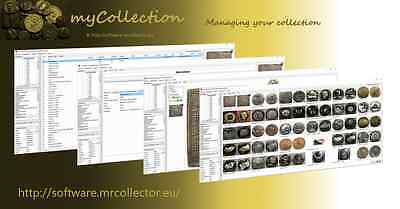 Medal token coin papermoney collection management software for Windows