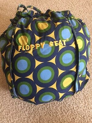 Floppy Seat Shopping Cart & High Chair Cover with Storage Bag Blue