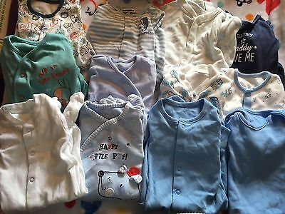 Baby Boys 0-3 Months Sleep Suits X24 Approx bundle.