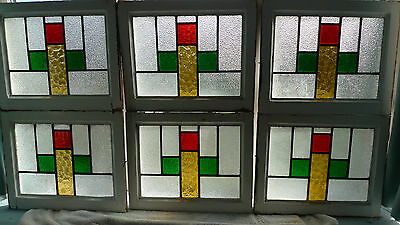 Stained Glass Leaded Windows - 1930s x12