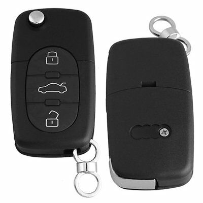 Remote Key Case Fob Shell 3 Buttons Uncut Blade for AUDI A2 A3 A4 A6 A8 TT O2C5