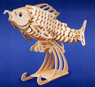 Carp Woodcraft Construction Model Fish Kit, Brand New