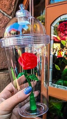 Disneyland's Beauty & The Beast Enchanted Rose Light-Up Tumbler