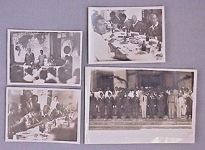 ORIGINAL WWII Japanese Diplomats in the Philippines Photo Lot of 4 RARE!