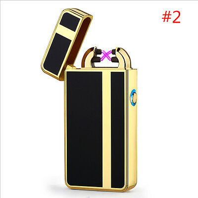 Plasma Pulse Electric Dual Arc Lighter USB Rechargeable Windproof Flameless #2